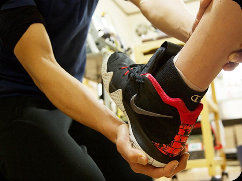 スポーツ選手の靴選び